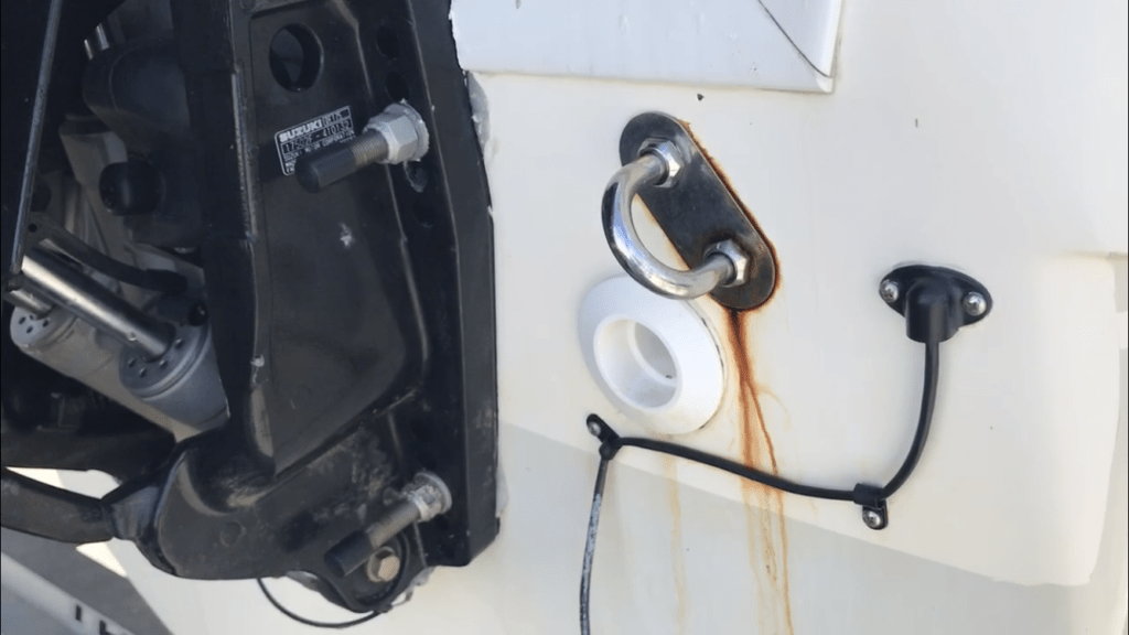 remove boat rust stains with toilet bowl cleaner