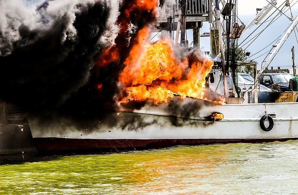Boat Safety, Why Are Marine Fire Extinguishers White? Fire on a boat #boating #boatlife
