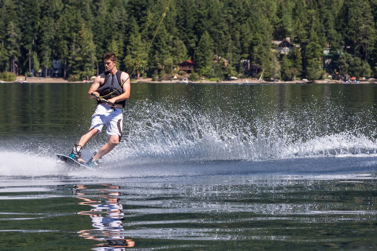 Wake Boarding at Sproat Lake.